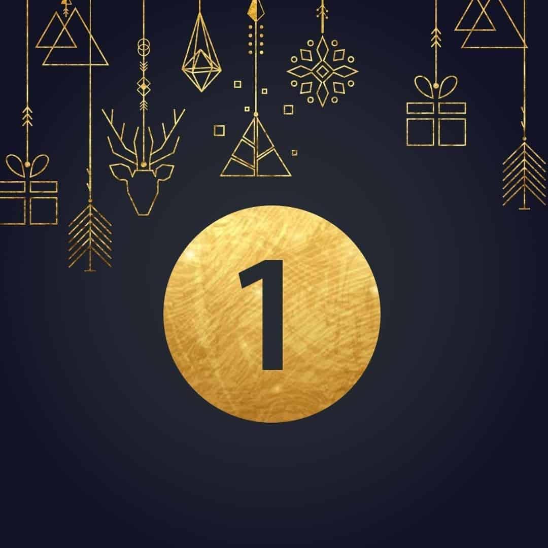 Lucka 1 i vår adventskalender. Kriss julkalender med fina erbjudanden varje dag fram tills julafton.