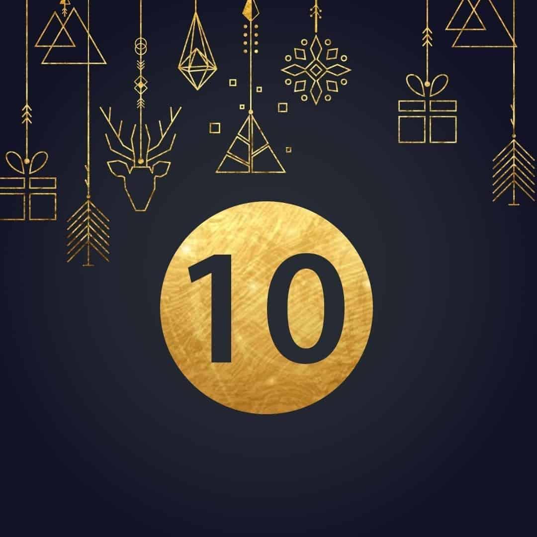 Lucka 10 i vår adventskalender. Kriss julkalender med fina erbjudanden varje dag fram tills julafton.