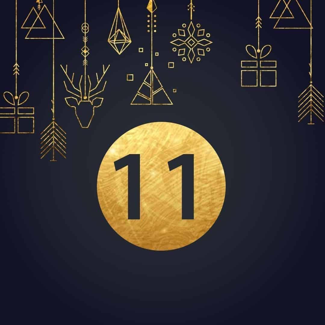 Lucka 11 i vår adventskalender. Kriss julkalender med fina erbjudanden varje dag fram tills julafton.