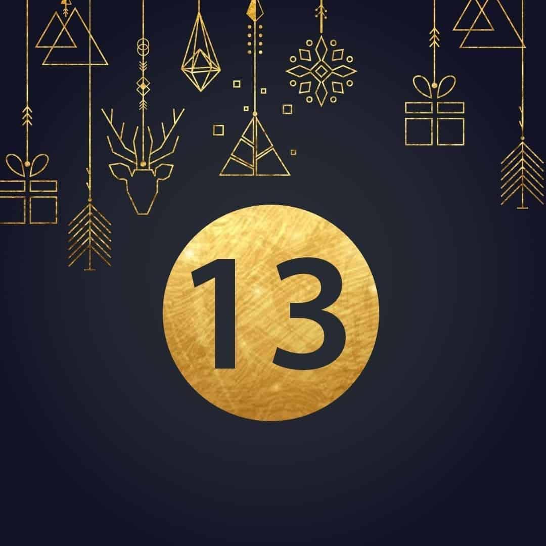 Lucka 13 i vår adventskalender. Kriss julkalender med fina erbjudanden varje dag fram tills julafton.