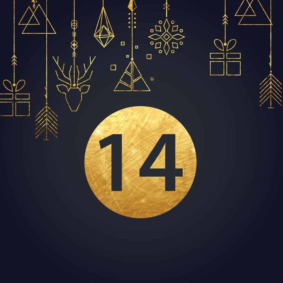 Lucka 14 i vår adventskalender. Kriss julkalender med fina erbjudanden varje dag fram tills julafton.