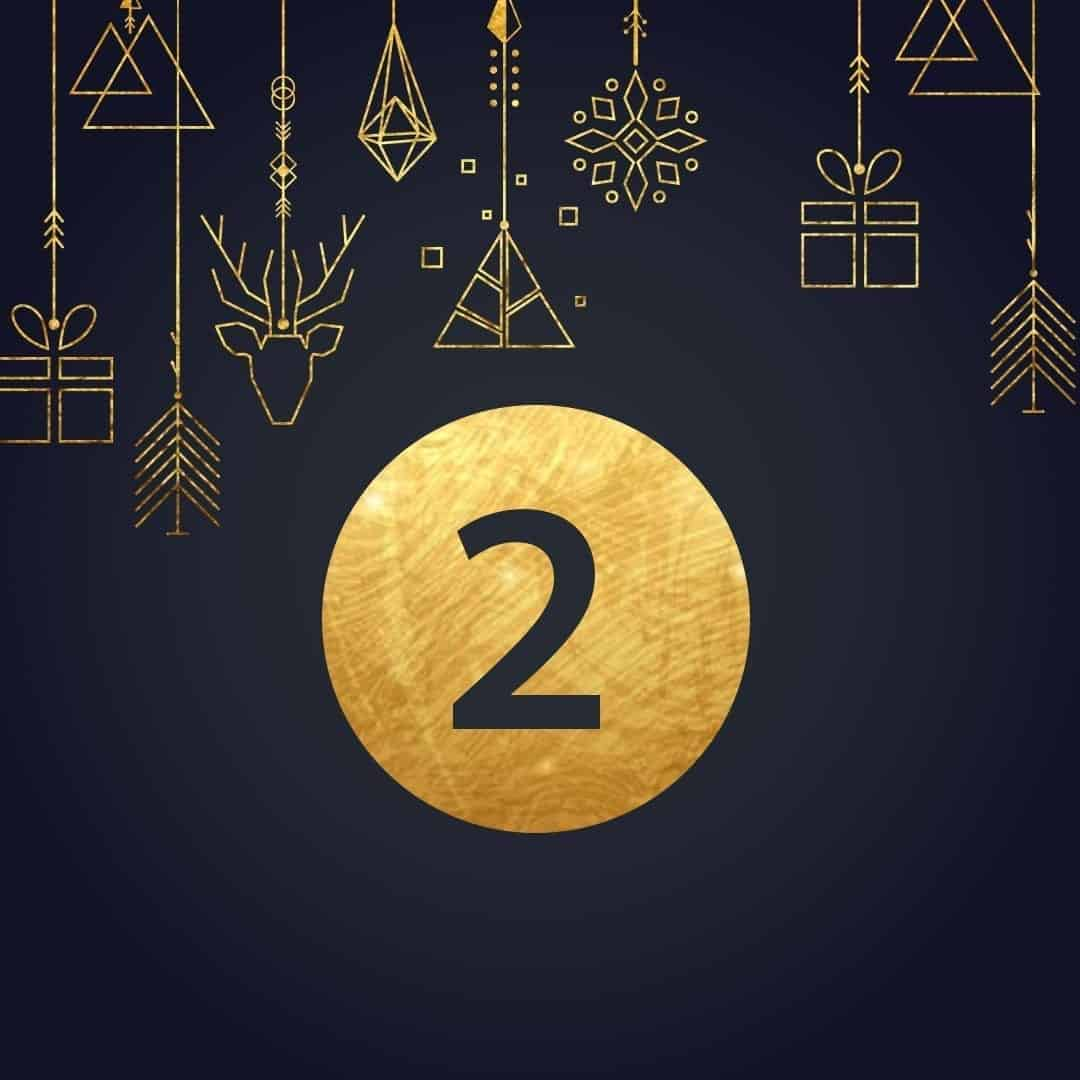 Lucka 2 i vår adventskalender. Kriss julkalender med fina erbjudanden varje dag fram tills julafton.
