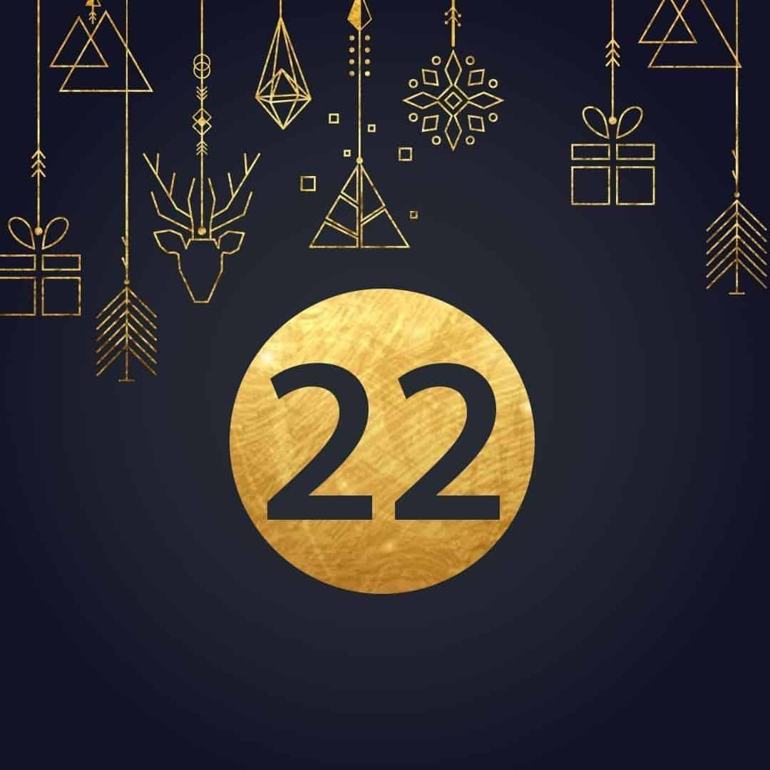 Lucka 22 i vår adventskalender. Kriss julkalender med fina erbjudanden varje dag fram tills julafton.