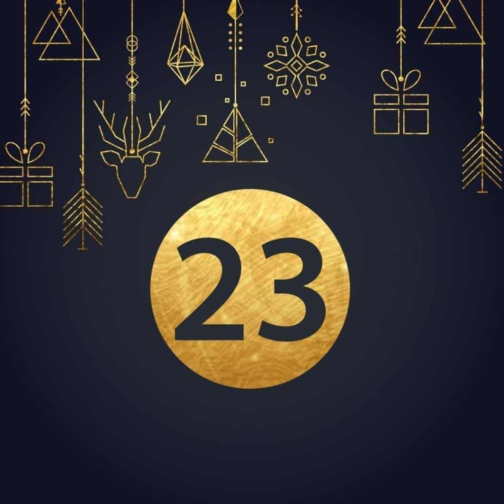 Lucka 23 i vår adventskalender. Kriss julkalender med fina erbjudanden varje dag fram tills julafton.