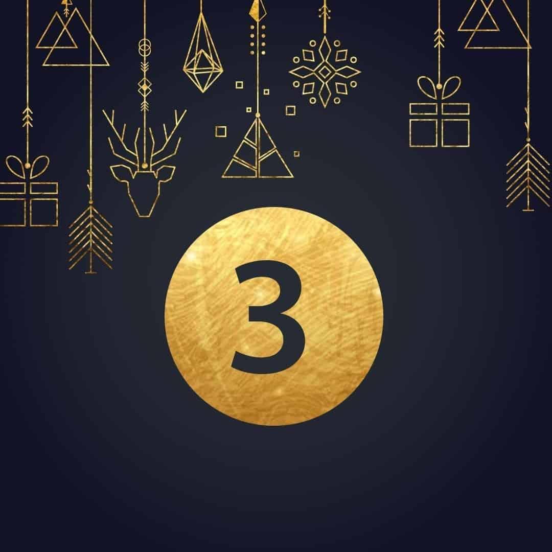 Lucka 3 i vår adventskalender. Kriss julkalender med fina erbjudanden varje dag fram tills julafton.