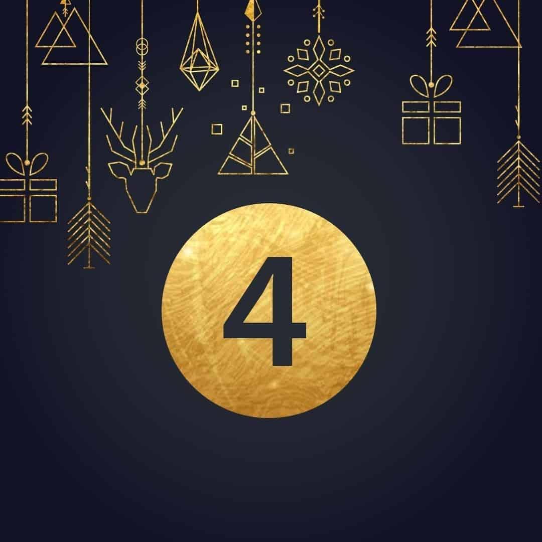 Lucka 4 i vår adventskalender. Kriss julkalender med fina erbjudanden varje dag fram tills julafton.