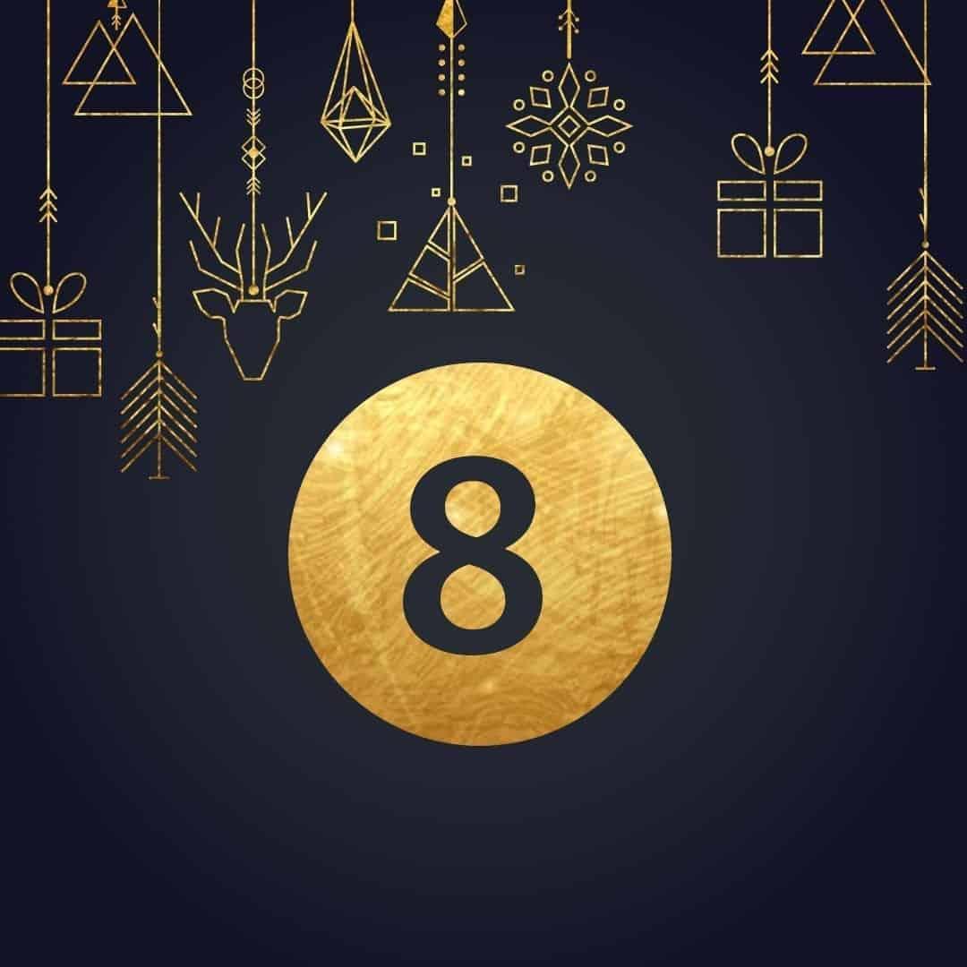 Lucka 8 i vår adventskalender. Kriss julkalender med fina erbjudanden varje dag fram tills julafton.