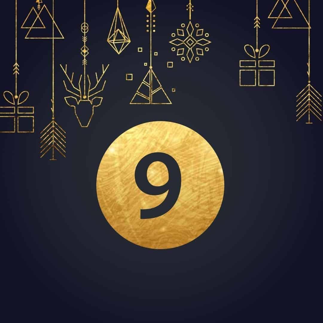 Lucka 9 i vår adventskalender. Kriss julkalender med fina erbjudanden varje dag fram tills julafton.