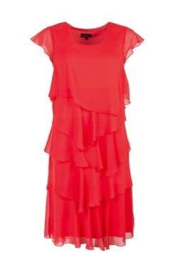 Snygg röd Kriss klänning Nelly i draperade våder