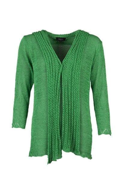 Kriss Cardigan Berta, snygg grön cardigan från Kriss