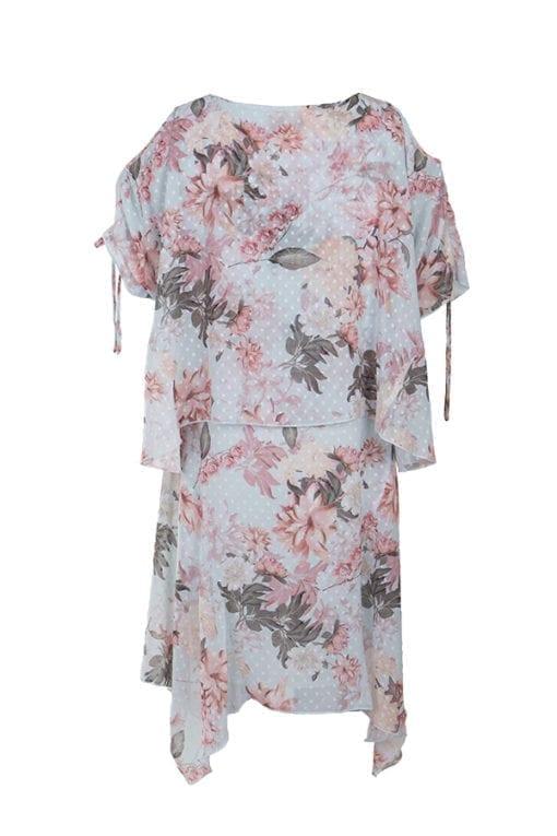 Klänning Anna är en generös klänning i vackert blomprint på en aquafärgad botten med prickig struktur. Shoppa damkläder online på kriss.eu idag!