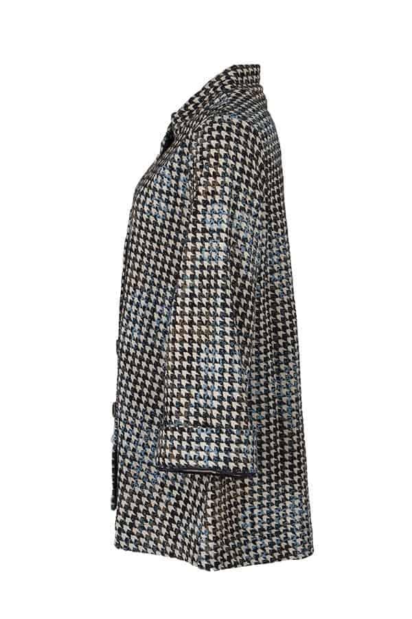 Kriss Sweden | Tunika Blue Nemia | Underbar A-linjeformad tunika/jacka med dolda fickor i sidan | shoppa idag på kriss.eu