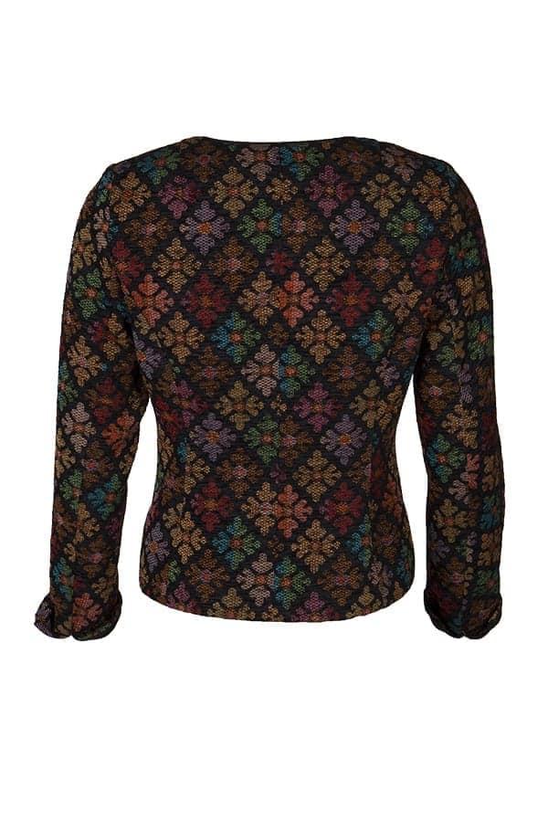 Kriss Sweden | Jacka Fling | Läcker jacka i vackert chenille-tyg med mönster i höstfärger och lite glans shoppa idag på kriss.eu