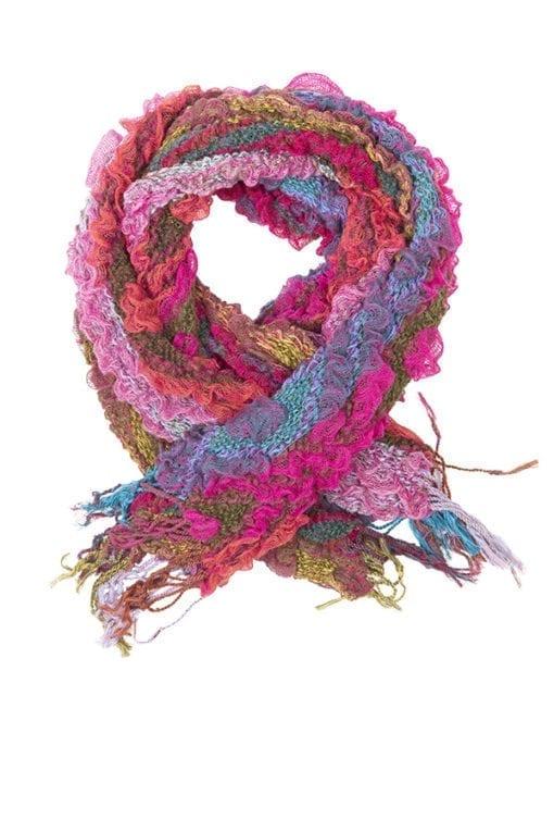 Kriss Sweden | Halsduk Nikki | Läcker multifärgad scarf med bubblig struktur som är lätt att bära | Svensk design på kriss.eu
