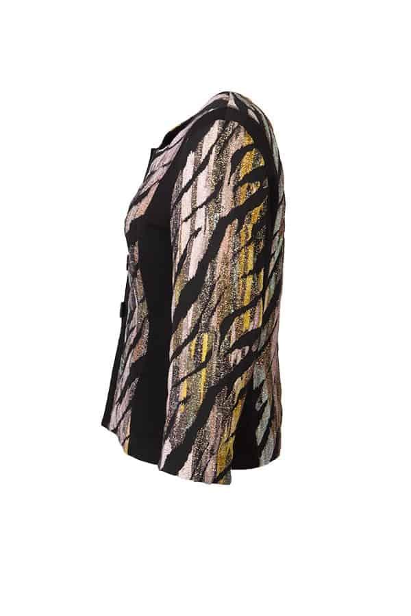 KRISS Jacka Patricia- Klassisk KRISS-jacka i festligt utförande med skimrande zebra-rand.